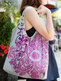 Pillowcase tote idea, shopping bags, mothers day, crafti, pillowcas tote, pillowcases, tote bags, sewing tutorials, pillowcas bag