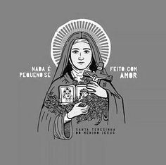 Santa Teresinha do Menino Jesus Jesus E Maria, Roman Church, St Therese Of Lisieux, Arte Dc Comics, Christian World, Angel Warrior, Catholic Art, God Loves Me, New Wallpaper