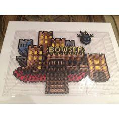 Bowsers castle perler beads by christobucks