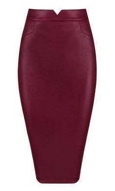 Wilma Burgundy Faux Leather Skirt