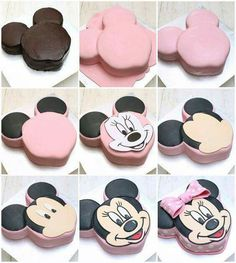 Minnie Mouse face cake tutorial