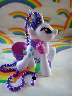 My Little Pony Necklace-  Rarity. $6.00, via Etsy.