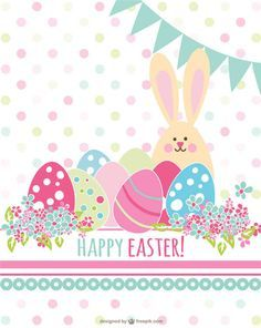Retro Easter Card Vector Graphics