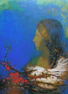Les épines rouges, par Odilon Redon