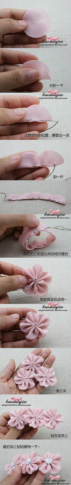 Leuk om zelf te maken | Leuke en makkelijke manier om bloemetjes te maken Door Marjo2010
