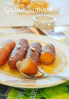 Tasty Appetite: Happy Diwali / How to make Gulab Jamun / Step-by-Step Recipe / Easy Diwali Sweets: Indian Dessert Recipes, Indian Sweets, Sweets Recipes, Cooking Recipes, Diwali Recipes, Easy Sweets, Beignets, Jamun Recipe, Tandoori Masala