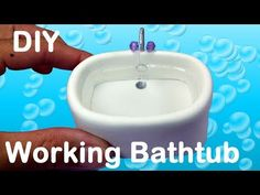DIY Working Doll Bathtub for LPS, MLP, or small dolls - YouTube