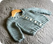 Ravelry: Basic Baby Cardigan pattern by Alana Dakos (free and adorable...even with seams!)