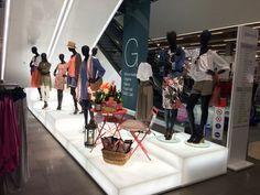 Garden Party Runway / VM / Visual Merchandising / styling / mannequins /summer15 / home display /marks and Spencer