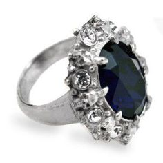 Gothic Wedding Rings   ... Engagement Alchemy Gothic Blue Crystal Ring   Diamond Engagement Rings
