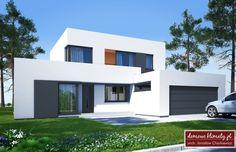 Projekt domu Kaskada N 159.41 m² - Domowe Klimaty Home Design Plans, Civil Engineering, Home Fashion, Planer, Shed, Villa, Floor Plans, House Design, Outdoor Structures