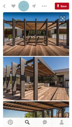 This large pergola has enough space for a large outdoor lounge and dining area. - This large pergola has enough space for a large outdoor lounge and dining area. Outdoor Shade, Outdoor Pergola, Backyard Pergola, Outdoor Lounge, Outdoor Areas, Outdoor Rooms, Outdoor Living, Outdoor Structures, Pergola Ideas