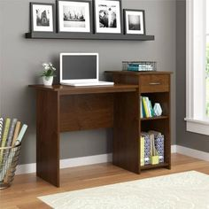 Create a spot for study with the #Mainstays Student Desk. It's a worthwhile solution for a youth bedroom or anywhere you need a compact option for writing, readi...