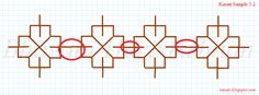 Instructions for working Kasuti Embroidery An analysis of design elements - sample 2