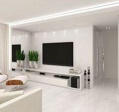 Likes, 21 Comments - Deco Garden-Design Home Living Room, Interior Design Living Room, Living Room Decor, Tv Wall Design, Design Case, Modern Tv Wall Units, Living Room Tv Unit Designs, Tv Wall Decor, House