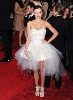 Miranda Kerr- That's right, even adults can wear prom dresses, tutu's, and tulle...