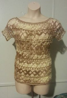 How to Ladies Womens Top Shirt Blouse Posie Stitch Crochet Woman, Love Crochet, Easy Crochet, Crochet Lace, Crochet Tops, Beginner Crochet Tutorial, Crochet For Beginners, Crochet Tutorials, Stitch Crochet