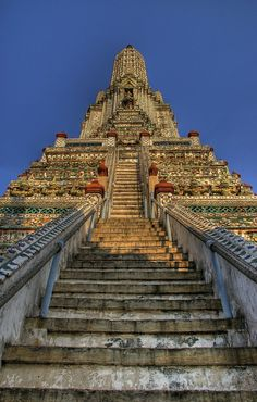 Postcard from Bangkok: Wat Arun (Temple of the Dawn) is a 104 meter prang (Khmer-style tower... pinned with Pinvolve