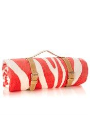 Maslin and Co Zebra Hide Terry Cloth Beach Towel