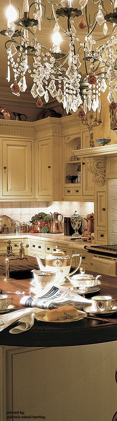 Discover inspired design by Clive Christian Furniture Co. Enhance your home with a Clive Christian Creation, designed for you, with you, then handmade to the highest standards of British craftsmanship. French Country Kitchens, French Country Cottage, French Decor, French Country Decorating, Beautiful Kitchens, Beautiful Interiors, Shabby, French Table, Kitchen Chandelier