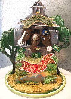 horse barn cake
