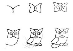 How to Draw Easy Animal Figures in Simple Steps - Owl