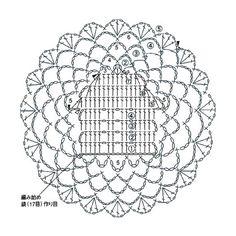 예쁜 코바늘 원형 모티브 무료도안 Crochet Snowflake Pattern, Crochet Snowflakes, Crochet Borders, Crochet Flower Patterns, Doily Patterns, Crochet Squares, Crochet Motif, Crochet Designs, Crochet Doilies