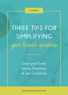 Three Tips for Simplifying Your Launch Graphics by Trunked Creative
