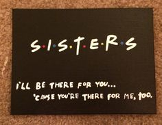 Friends Themed Sorority Canvas by MyCraftingBoutique on Etsy
