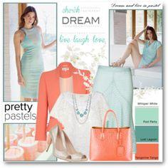 Turquoise & Tangerine Pastels