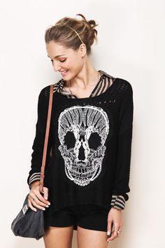 threaded skull shirt.