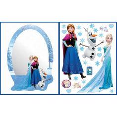 Jégvarázs falmatrica + tükör 2 db-os szett Elsa, Frozen, Disney Princess, Disney Characters, Home Decor, Art, Art Background, Decoration Home, Room Decor
