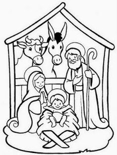 Free Nativity Coloring Page | Sunday school, School and Churches