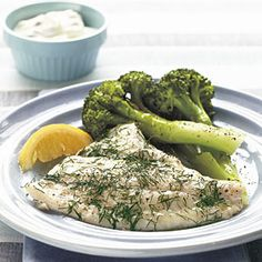 5-Ingredient Seafood Recipes | Baked Flounder with Dill and Caper Cream | CookingLight.com