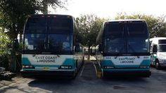 55 passenger Prevost motor coaches