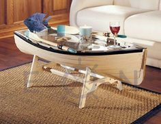 Boat Coffee Table Via Everything Nautical