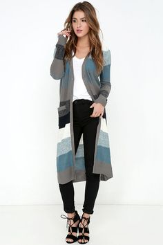 Jack by BB Dakota Case Slate Blue Striped Sweaterat Lulus.com!