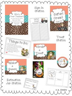 Who's Your Teacher (Go Wild at Meet the Teacher) Back To School Night, I School, Beginning Of The School Year, First Day Of School, Classroom Themes, School Classroom, Grade 1, Third Grade, Principal Ideas