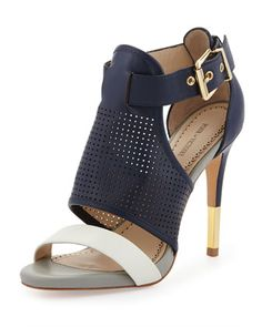 Selena Colorblock Pump, Navy/White/Gray | NM Last Call