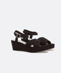 Sandales compensées croisées flat form - OYSHO