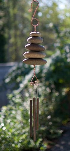 Wind Chime Zen Beach Stone Handcrafted More