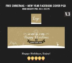 Free Christmas & New Year Facebook Covers V.3 is Fully editable and all layers are Organized in PSD Template. Easy to edit. Download Now! :) via @creativetacos Creative Facebook Cover, Facebook Timeline Covers, Happy New Year Facebook, Photography Templates, Photography Tips, Photoshop Tutorial, Adobe Photoshop, Fb Covers, Psd Templates