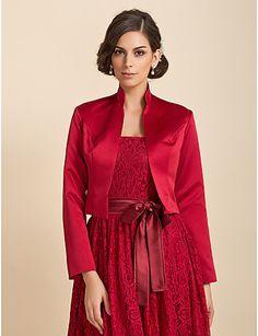 3/4 Sleeve Satin Evening/Casual Wrap/Evening Jacket (More Colors) Bolero Shrug – USD $ 25.99