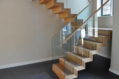 Neville Avenue Staircase project is a variation of one of our most popular. Floating stairs and beautiful clean lines.