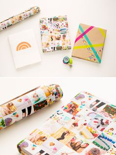 Cover your textbooks with Instagram wrapping paper.