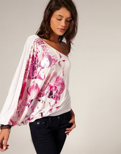 Miss Sixty Asymetric Batwing Top