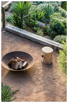Fig Landscaping are a Byron Bay based landscaping company who provide landscape design, construction and maintenance services throughout Northern Rivers. Garden Fire Pit, Dry Garden, Fire Pit Backyard, Australian Garden Design, Australian Native Garden, Fire Pit Landscaping, Garden Landscaping, Back Gardens, Outdoor Gardens