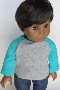 American Girl Boy Doll Clothes  Boycut Jeans and by Minipparel