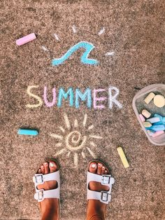 Summer Vibes, Summer Fun, Summer Bucket, Last Minute Halloween Kostüm, Chalk Wall, 3d Chalk Art, Chalk Design, Vsco Pictures, Vsco Pics