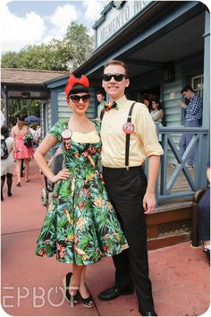 at the Magic Kingdom! Guest's outfits from Spring So creative!Day at the Magic Kingdom! Guest's outfits from Spring So creative! Disney Inspired Outfits, Disney Outfits, Retro Outfits, Disney Style, Cute Outfits, Dapper Day Disneyland, Disney Dapper Day, Disneyland Trip, Dapper Day Outfits